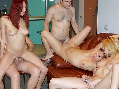 Truly wild party porn with a redhead hottie