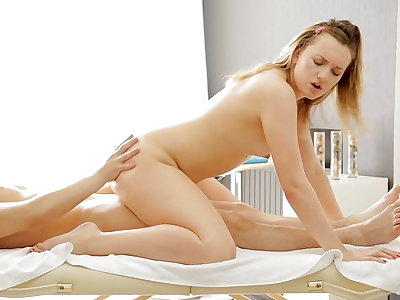 Impressive and hot massage xxx video